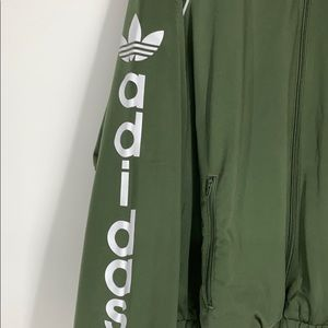 adidas Jackets & Coats - Adidas trefoil green track jacket NWT medium